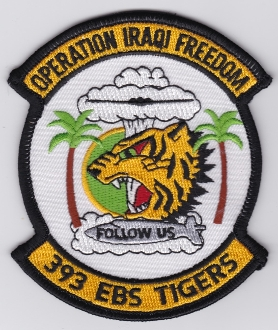 USAF Patch Bomb Deployed 393 EBS Expeditionary Squadron B 2 OIF