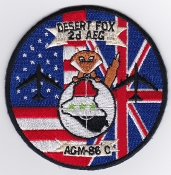 USAF Patch Bomb Deployed 2 AEG Air Expeditionary Group B 52 Fox