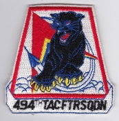 USAF Patch Fighter USAFE 494 TFS Tac Ftr Squadron F 111 3b
