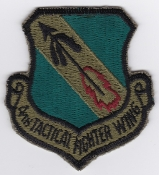 USAF Patch Fighter 4 TFW Tactical Ftr Wing F 4 Phantom II sa