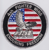 USAF Patch Fighter 4 v FW Ftr Wing F 15E Strike Eagle OEF