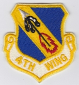 USAF Patch Fighter 4 u W Wing F 15E Strike Eagle
