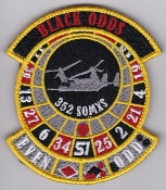 USAF Patch Spec Ops USAFE 352 SOG Special Ops t CV 22 Tail 51