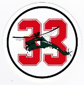 RAF Sticker Patch Sqn Royal Air Force 33 Squadron Zap Decal Puma
