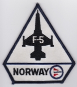 RNoAF Patch Royal Norwegian Air Force 336 Skv F 5 NATO Tiger II