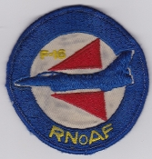 RNoAF Patch Royal Norwegian Air Force 332 Skv Sqn F 16 Solo a