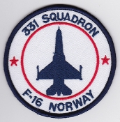 RNoAF Patch Royal Norwegian Air Force 331 Skv Squadron F 16