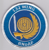 RNoAF Patch Royal Norwegian Air Force 132 Air Wing F 16 Afg