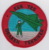 RDAF Patch Royal Danish Air Force 725 Esk Squadron Draken Tek