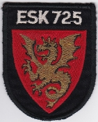 RDAF Patch Royal Danish Air Force 725 Esk Squadron Shield Draken