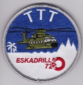 RDAF Patch Royal Danish Air Force 722 Esk Squadron Merlin TTT
