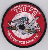 RDAF Patch Royal Danish Air Force 730 Esk Squadron F 16 Maint