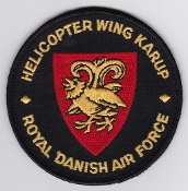 RDAF Patch Royal Danish Air Force 722 Esk Squadron Helicopter Wg