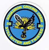 RAF Sticker Patch Sqn Royal Air Force 20 Squadron Groundcrew Zap