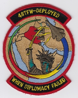 USAF Patch Fighter USAFE 48 TFW Tactical Ftr Wing F111 p Iraq d