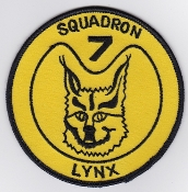 RNLNAS Patch Netherlands Naval Aviation 7 Squadron Patch Lynx