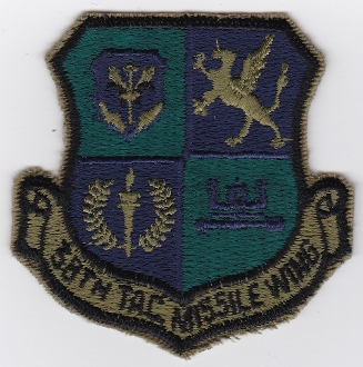 USAF Patch GLCM USAFE 38 TMW Tactical Missile Wing Patch 1985