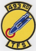 USAF Sticker Patch Ftr USAFE 493 TFS Tac Fighter Squadron F 111