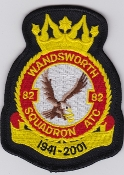 RAF Patch ATC Squadron 82 Wandsworth Sqn Air Training Corps 60th