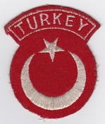Turkish Air Force Nat ID Patch TUAF Flag Patch Tabbed Disc