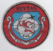 Turkish Air Force Sqn Patch TUAF 112 Filo F 4 Phantom Seytan