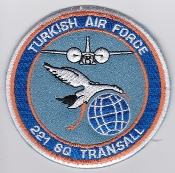 Turkish Air Force Squadron Patch TUAF 221 Sq Transall