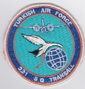 Turkish Air Force Squadron Patch TUAF 221 Sq Transall 2