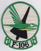 USAF Patch Fighter 49 FIS Interceptor Squadron F 106 Dart ob