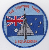 RAAF Patch Sqn Royal Australian Air Force 3 Squadron Mirage IIIO
