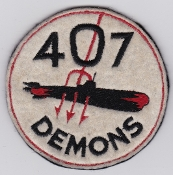 RCAF Patch Sqn Royal Canadian Air Force 407 Squadron Demons