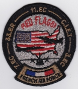 French Air Force ALA Patch Ex Red Flag 87 EC 3 EC 7 EC 11 ER 33