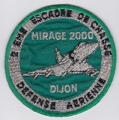 French Air Force ALA Patch Ftr Esc De Chasse EC 2 Dijon Mirage