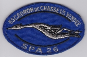 French Air Force ALA Patch Ftr Esc De Chasse EC 1 5 SPA 26 Velcr