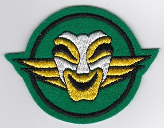 French Air Force ALA Patch Ftr Esc Chasse EC 1 11 Masque Comedie