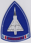 French Air Force ALA Patch Ftr Esc De Chasse EC 3 13 Mirage 5