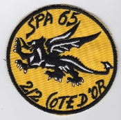 French Air Force ALA Patch Ftr Esc De Chasse EC 2 2 SPA 65