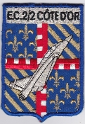 French Air Force ALA Patch Ftr Esc De Chasse ECT 2 2 Cote D Or