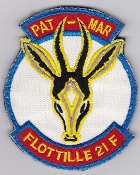 French Naval Aviation Aeronavale Patch 21 F Flotille Pat Mar Vel