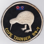 RNZAF Patch Sqn Royal New Zealand Air Force 75 Sqn Cope Thunder