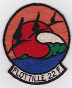 French Naval Aviation Aeronavale Patch 22 F Flotille Atlantique