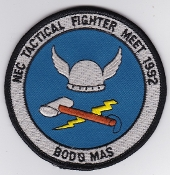 RNoAF Patch Royal Norwegian Air Force Ex Tac Fighter Meet 1992