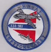 RNoAF Patch Royal Norwegian Air Force 333 Skv Squadron P 3 ASW