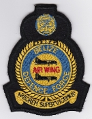 BDFAW Patch Air Wing Belize Defence Force Crest Defender