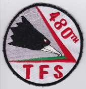 USAF Patch Fighter Vietnam 480 TFS Tactical Ftr Squadron F 4