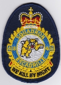RCAF Patch Sqn Royal Canadian Air Force 406 Squadron Escadrille