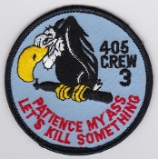 RCAF Patch Sqn Royal Canadian Air Force 405 Squadron Crew 3 Col
