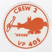 RCAF Patch Sqn Royal Canadian Air Force 405 Squadron VP Crew 2