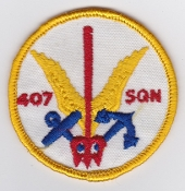 RCAF Patch Sqn Royal Canadian Air Force 407 Squadron Escadrille