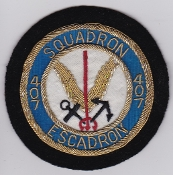 RCAF Patch Sqn Royal Canadian Air Force 407 Squadron Escadron