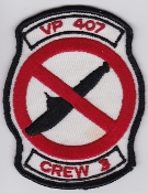 RCAF Patch Sqn Royal Canadian Air Force 407 Sq Escadrille Crew 3